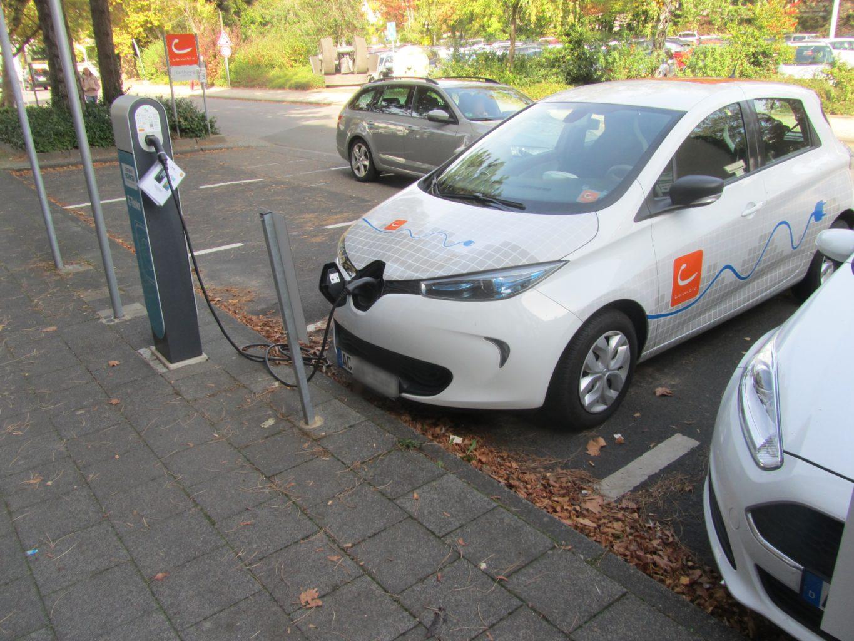 Elektroautos Ladestation am Kreishaus