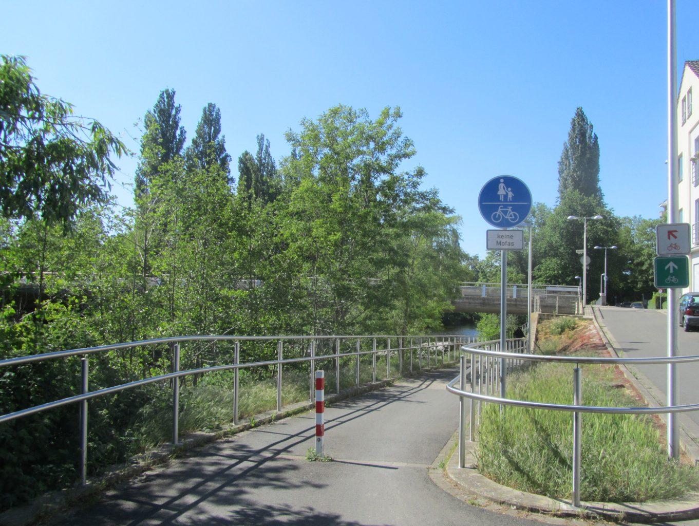 Radweg Brücke Aachener Straße
