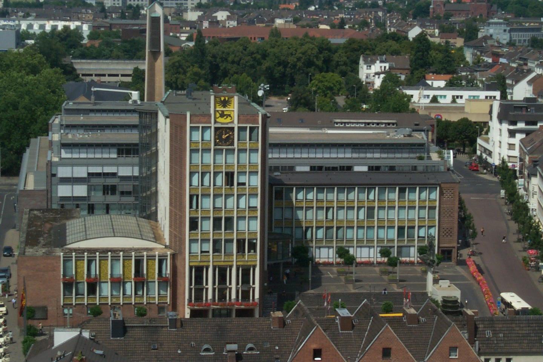 Rathaus Düren von oben